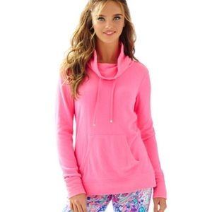 Lilly Pulitzer Cowl Neck Hillary Pink Pullover